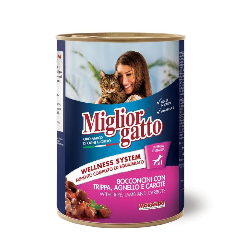 Miglior Gatto Kuzu İşkembeli ve Havuçlu Kedi Konservesi 405 Gr