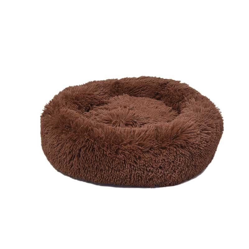 Dubex Ponchik Peluş Kedi Köpek Yatağı Tarçın Small