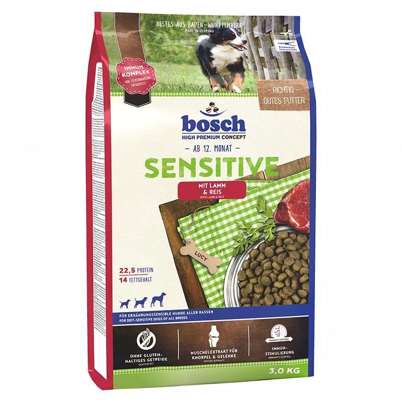 Bosch Tahılsız Sensitive Kuzulu Ve Pirinçli Yetişkin Köpek Maması 3 Kg