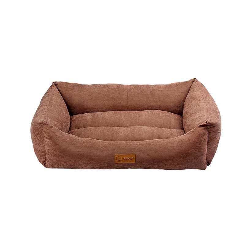 Dubex Cookie Kedi Köpek Yatağı Kahve Large