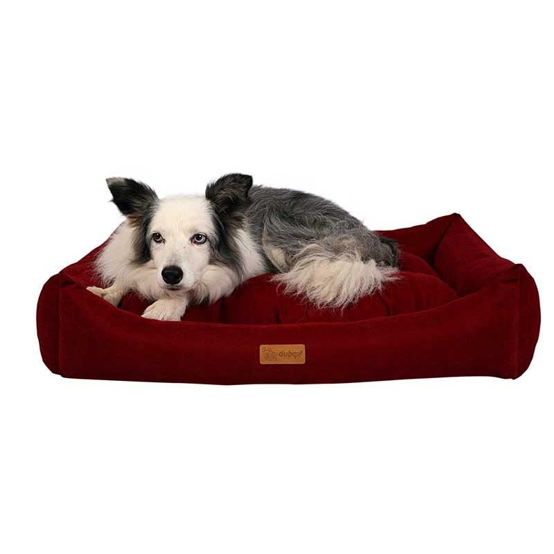 Dubex Cookie Kedi Köpek Yatağı Bordo XL