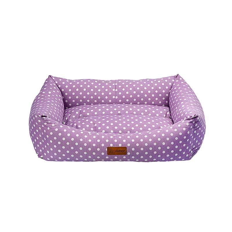 Dubex Makaron Kedi Köpek Yatağı Lila Benekli Large