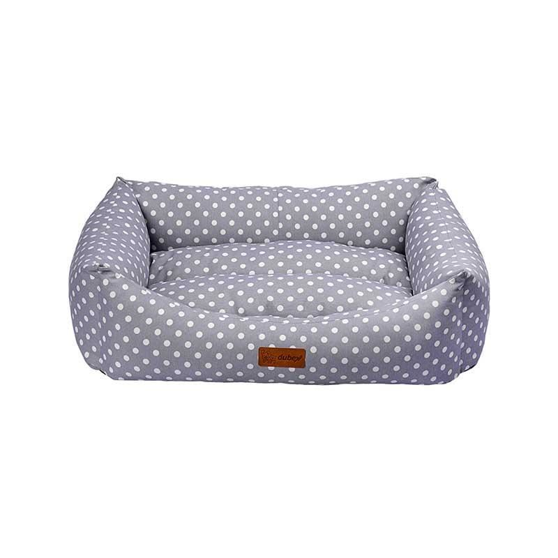 Dubex Makaron Kedi Köpek Yatağı Gri Benekli Large
