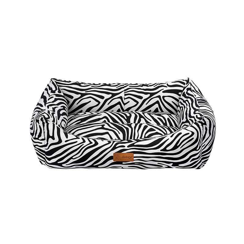 Dubex Makaron Kedi Köpek Yatağı Siyah Zebra Small