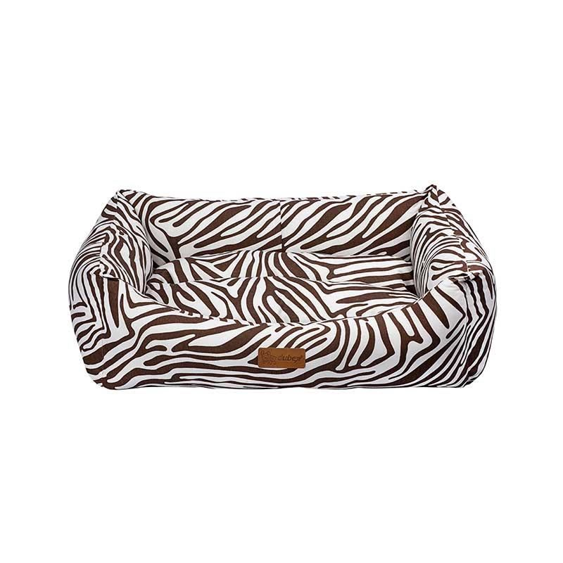 Dubex Makaron Kedi Köpek Yatağı Kahve Zebra Small