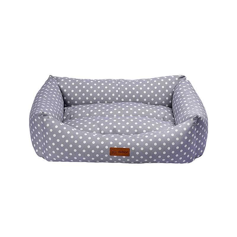 Dubex Makaron Kedi Köpek Yatağı Gri Benekli Small