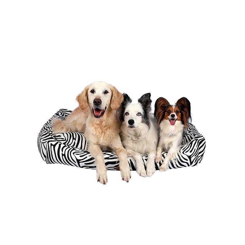 Dubex Makaron Kedi Köpek Yatağı Siyah Zebra Large