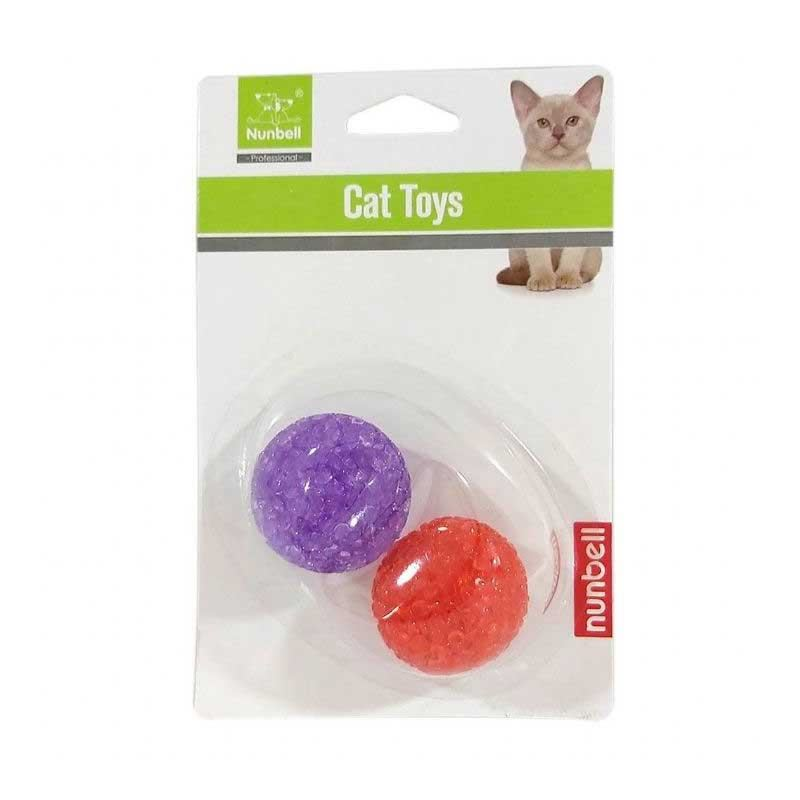 Nunbell İkili Kedi Oyuncak Top