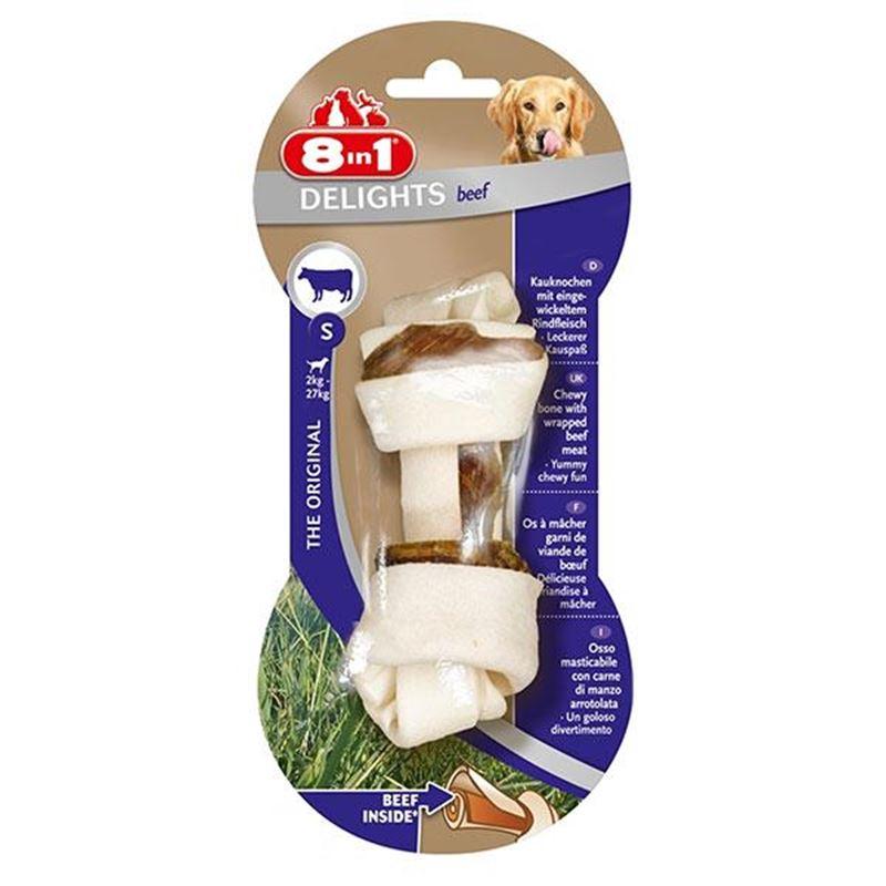 8in1 Delights Bones Biftekli Düğümlü Köpek Kemiği Small