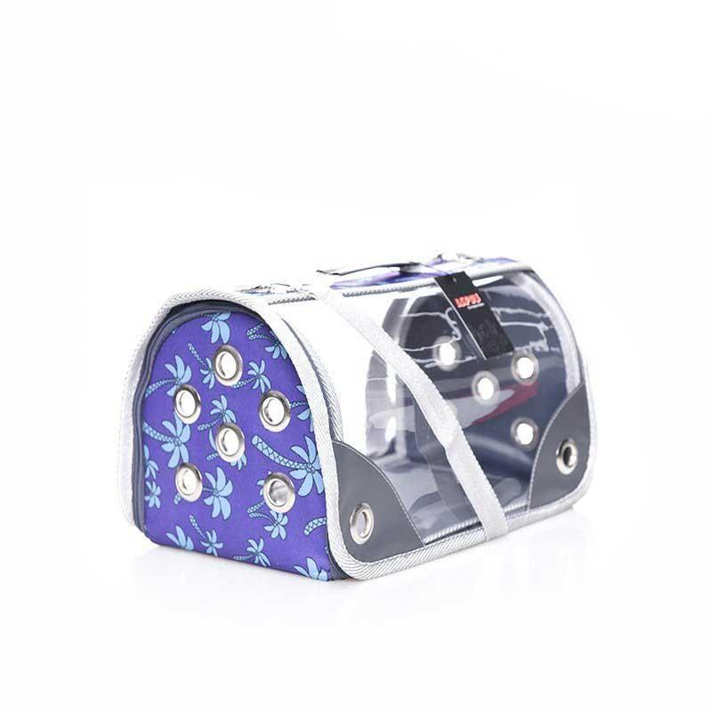 Lepus Şeffaf Fly Bag Kedi Köpek Taşıma Çantası Palmiye Mor Medium