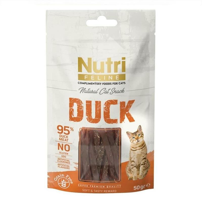 Nutri Feline Duck Snack Sandwich Kedi Ödülü 50 Gr