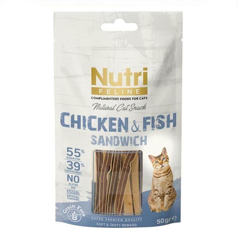 Nutri Feline Chicken&Fish Sandwich Kedi Ödülü 50 Gr