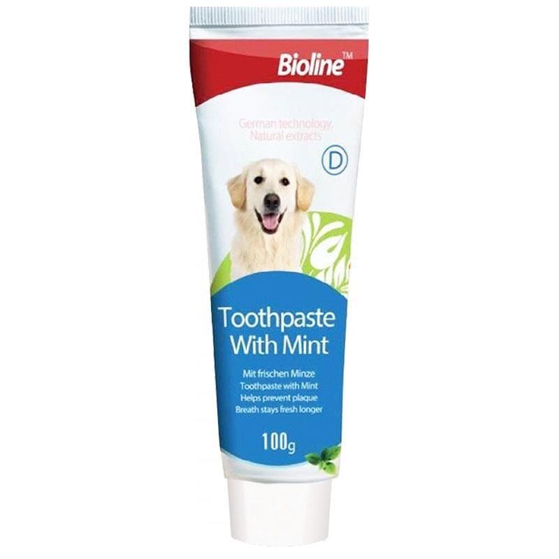 Bioline Köpek Diş Macunu Nane Aromalı 100 Gr