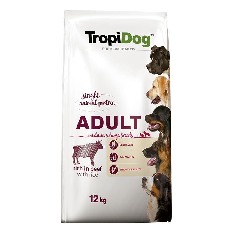 TropiDog Sığır Etli Yetişkin Köpek Maması Medium Large 12 kg