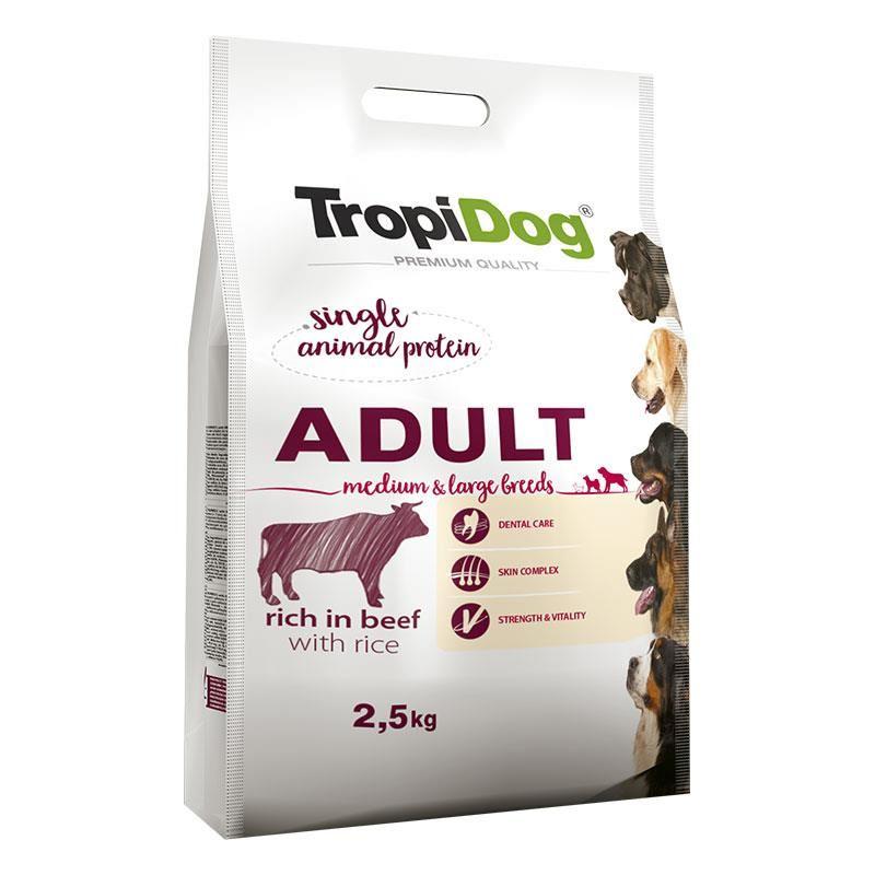 TropiDog Sığır Etli Yetişkin Köpek Maması Medium Large 2,5 kg