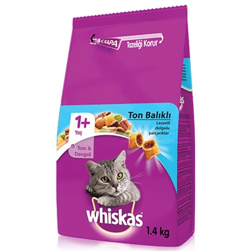 Whiskas Ton Balıklı Sebzeli Kedi Maması 1,4 Kg