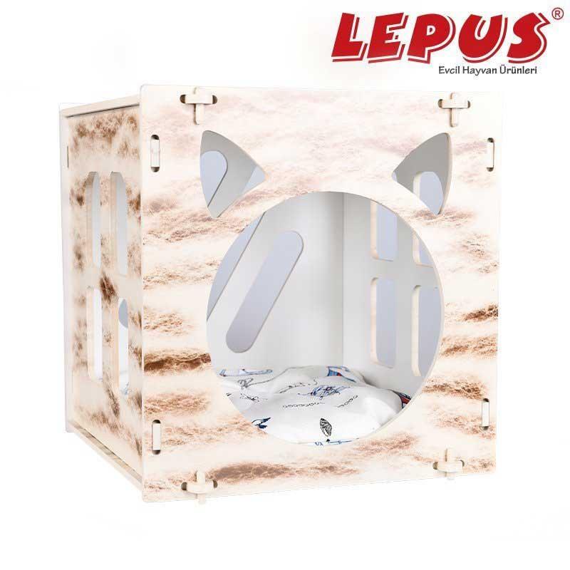 Lepus Cube Kedi ve Küçük Köpekler İçin Yuva Krem
