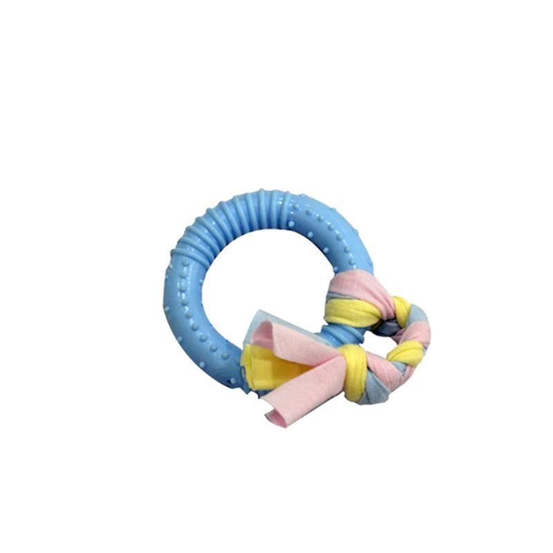 EuroDog Puppy Toys Halka Diş Kaşıma Yavru Köpek Oyuncağı Mavi 19 Cm
