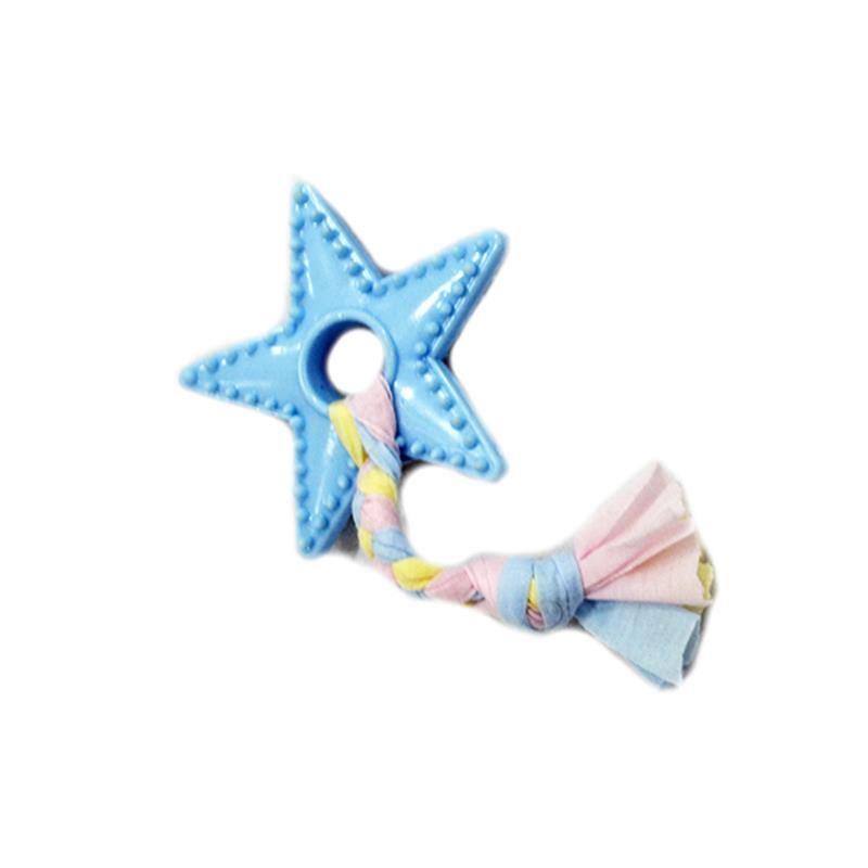 EuroDog Puppy Yıldız Diş Kaşıma Köpek Oyuncağı Mavi 18 Cm