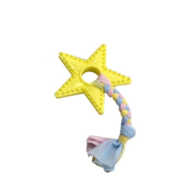 EuroDog Puppy Toys Yıldız Diş Kaşıma Köpek Oyuncağı Sarı 18 Cm