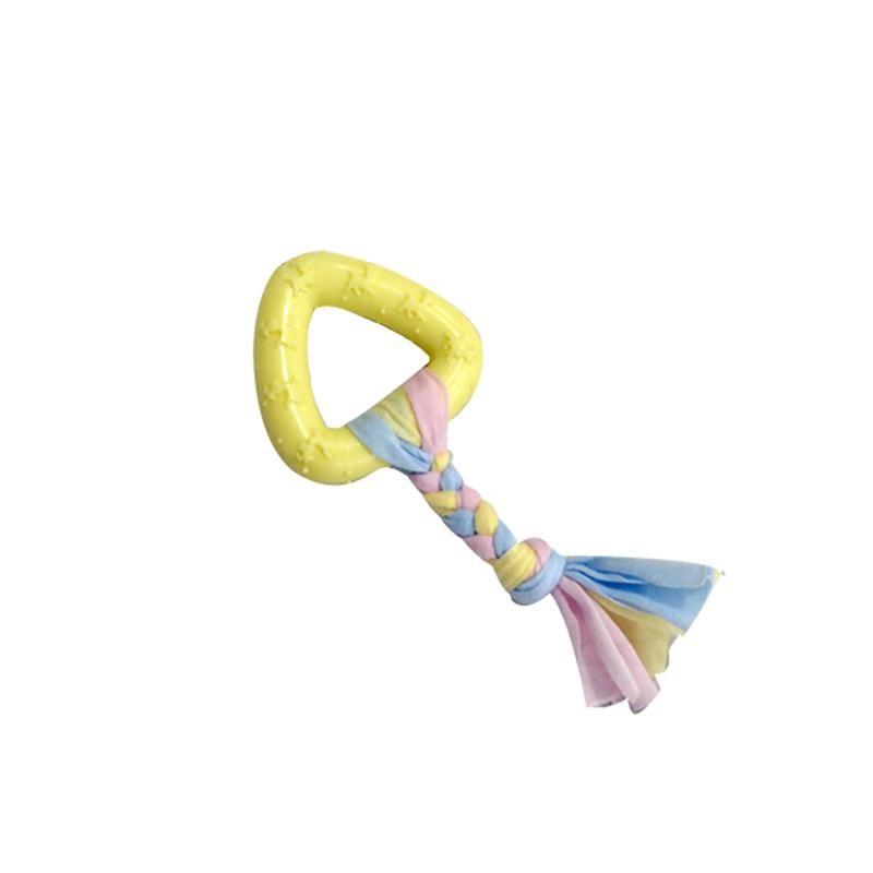 EuroDog Puppy Üçgen Diş Kaşıma Köpek Oyuncağı Sarı 19 Cm
