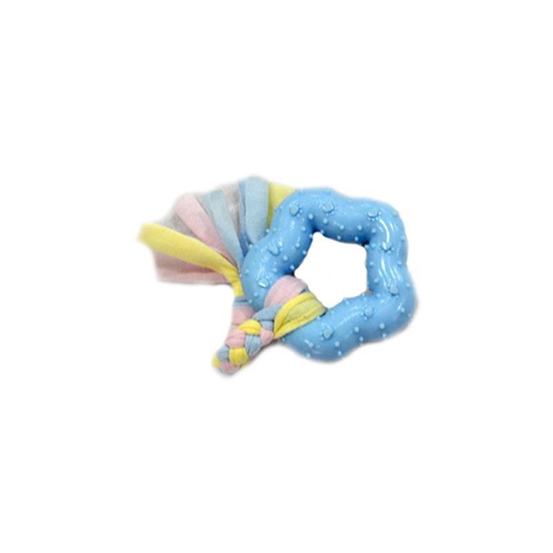 EuroDog Puppy Kalın Beşgen Şekilli Diş Kaşıma Köpek Oyuncağı Mavi 16 Cm