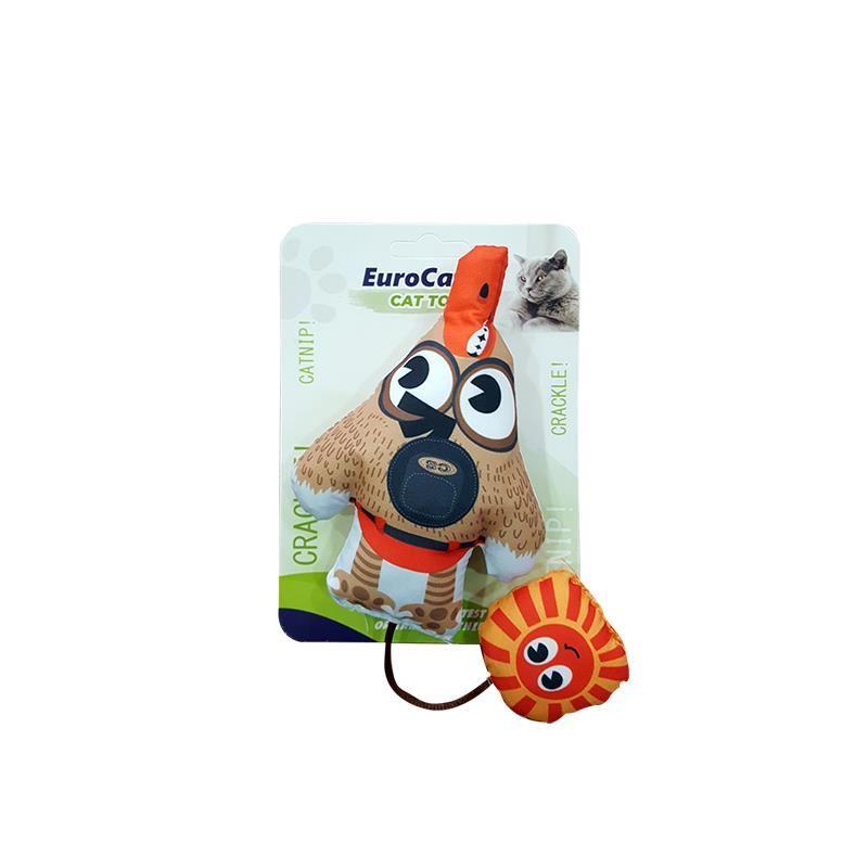 EuroCat Kedi Oyuncağı Şaşkın Köpek ve Güneş 25 Cm