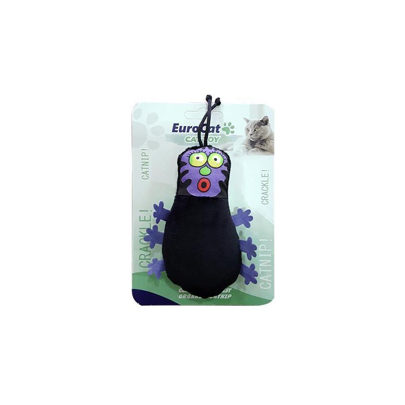 EuroCat Kedi Oyuncağı Siyah Tırtıl 11 Cm