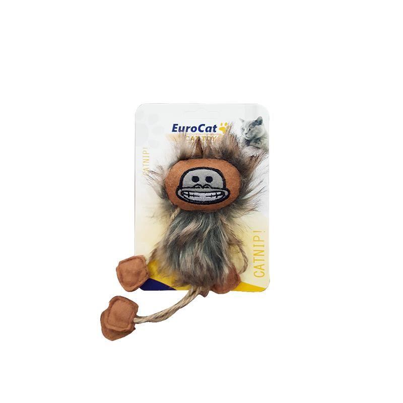 EuroCat Kedi Oyuncağı Püsküllü Maymun 19 Cm