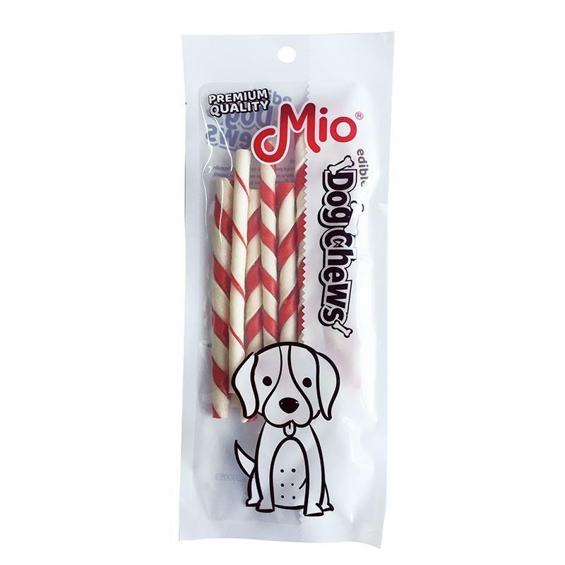 Mio Renkli Burgu Çubuk Köpek Çiğneme Kemiği 12cm x10 5gr