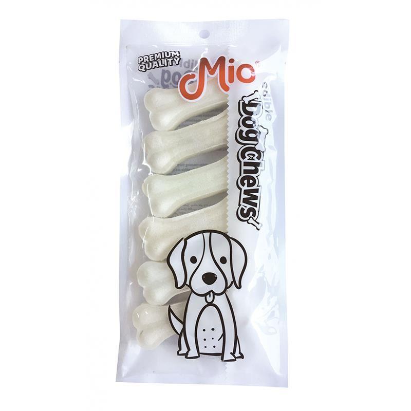 Mio Beyaz Press Deri Köpek Çiğneme Kemiği 7,5cm x6 25gr