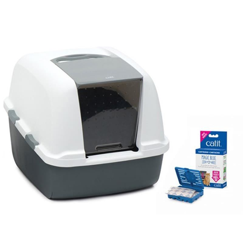 Catit Magıc Blue Litter Box Jumbo Kapalı Kedi Tuvaleti 57x46,5x50 Cm