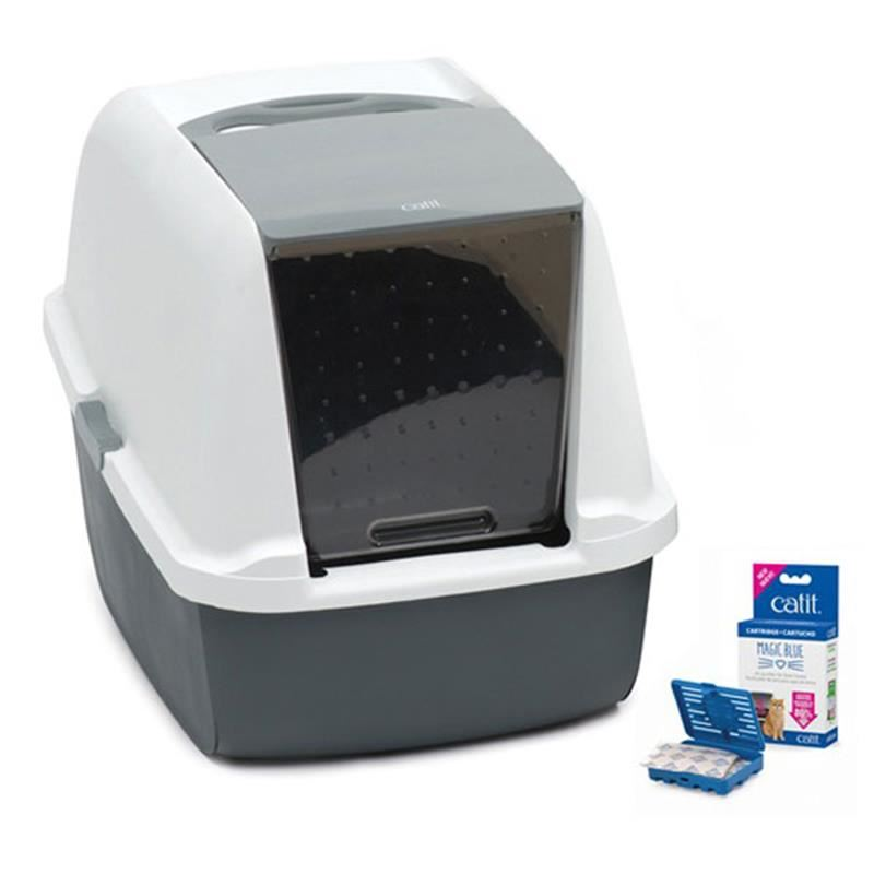 Catit Magıc Blue Litter Box Regular Kapalı Kedi Tuvaleti 57x46,5x39 Cm