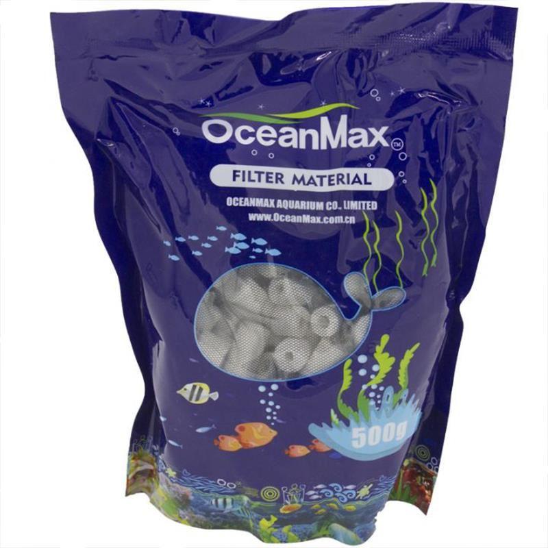 OceanMax Bio Ring Seramik Akvaryum Filitre Mazemesi 500 Gr