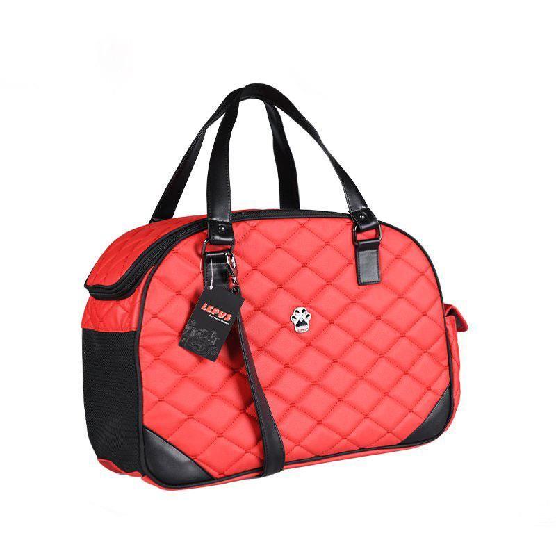 Lepus Luxury Bag Kedi Köpek Taşıma Çantası Small Kırmızı
