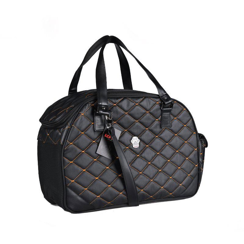 Lepus Luxury Bag Kedi Köpek Taşıma Çantası Small Siyah