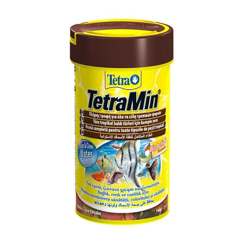 Tetramin Flakes Tropikal Balıklar için Pul Yem 20 Gr 100 Ml