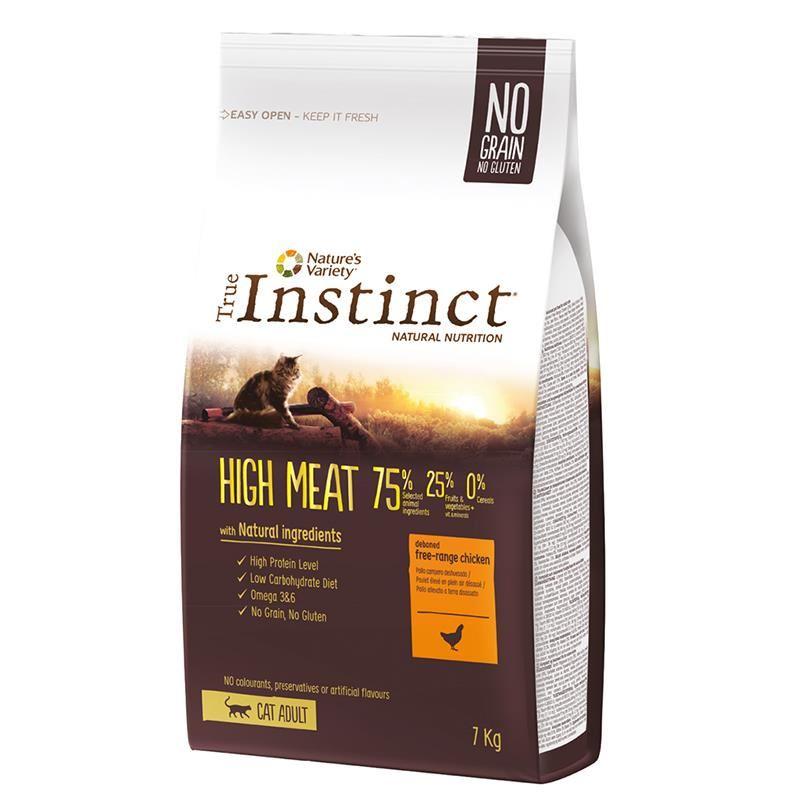 Instinct High Meat Yüksek Etli Tavuklu Tahılsız Yetişkin Kedi Maması 7 Kg