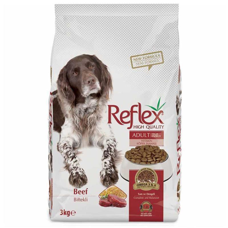 Reflex Biftekli Yüksek Enerjili Yetişkin Köpek Maması 3 Kg