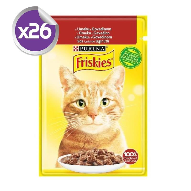 Friskies Pouch Sığır Etli Yetişkin Kedi Konservesi 85 Gr x26