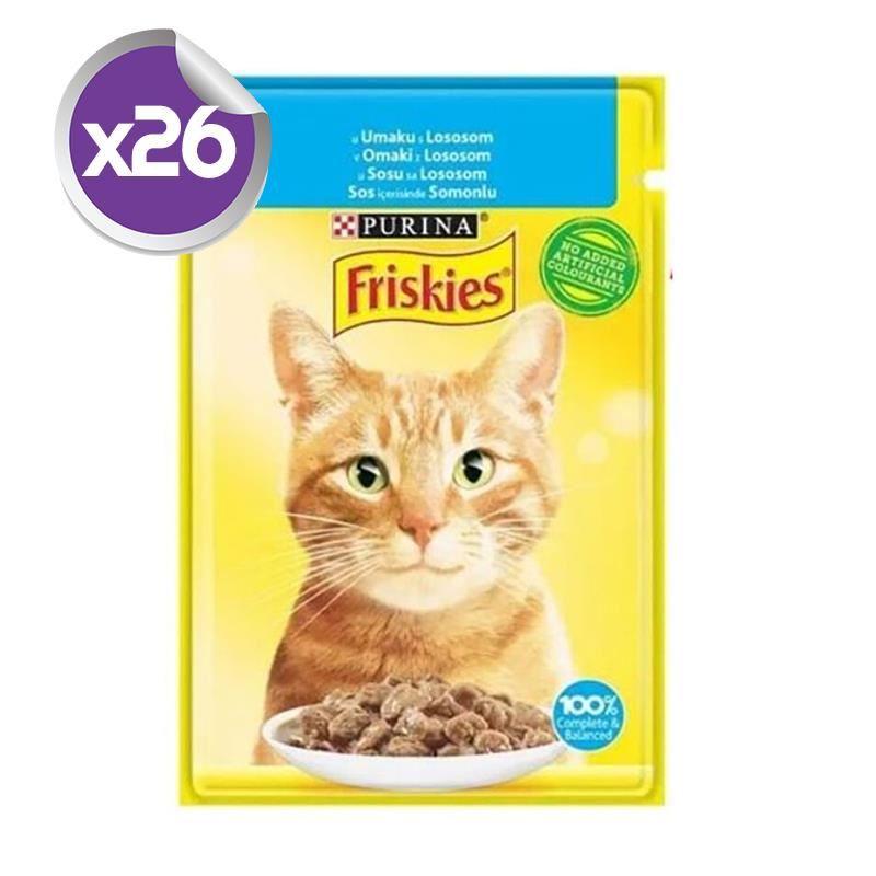 Friskies Pouch Somonlu Yetişkin Kedi Konservesi 85 Gr x26