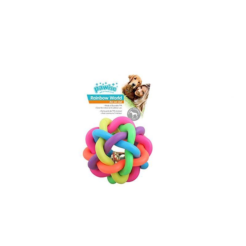 Pawise Rainbow World Örgü Top Köpek Oyuncağı Ø 6,5 Cm