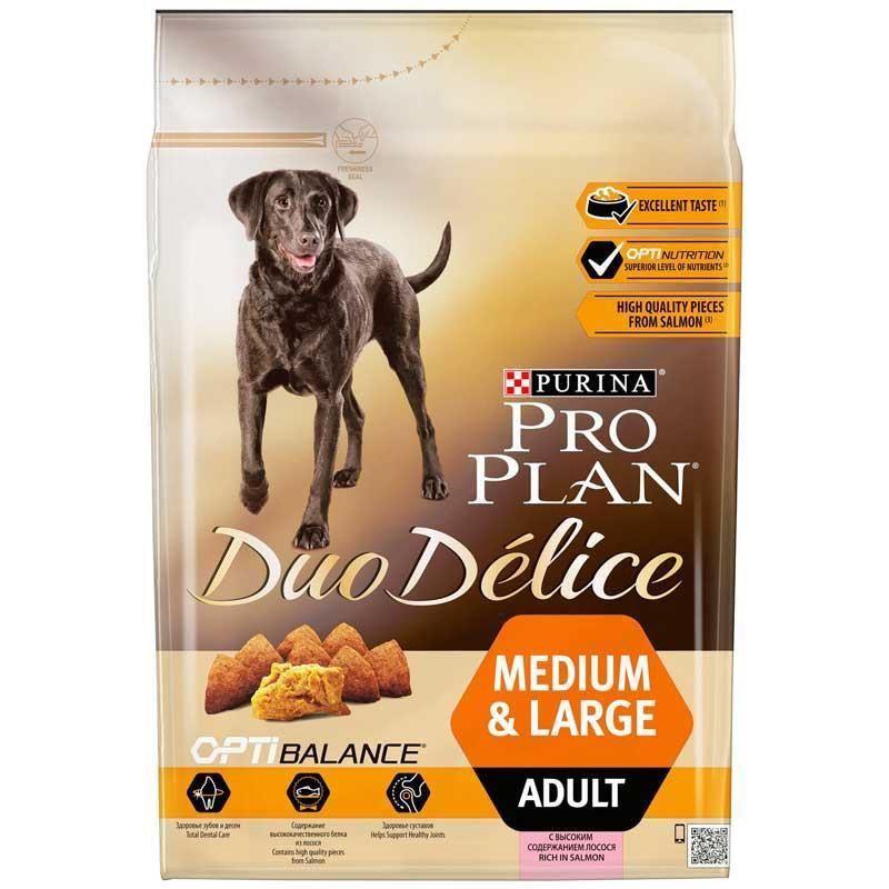 Proplan Duo Delice Somonlu Orta Büyük Irk Yetişkin Köpek Maması 2,5 Kg