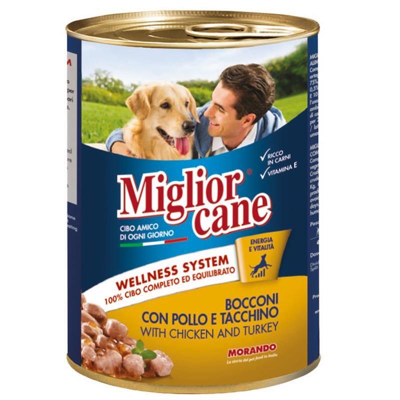 Miglior Cane Tavuklu ve Hindili Köpek Konservesi 405 Gr