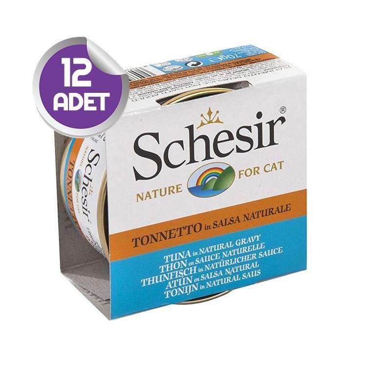 Schesir Soslu Ton Balıklı Kedi Konservesi 70 Gr x12