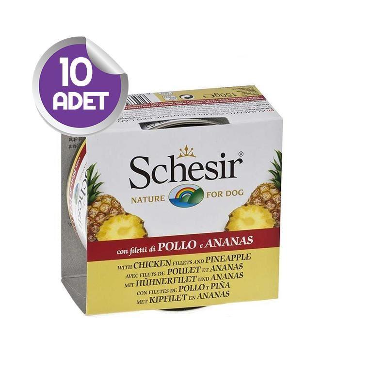 Schesir Fruit Tavuk ve Ananaslı Köpek Konservesi 150 gr x10