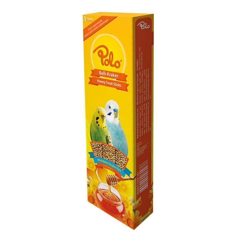 Polo Ballı Muhabbet Kuşu Krakeri 3 lü Paket 95 Gr