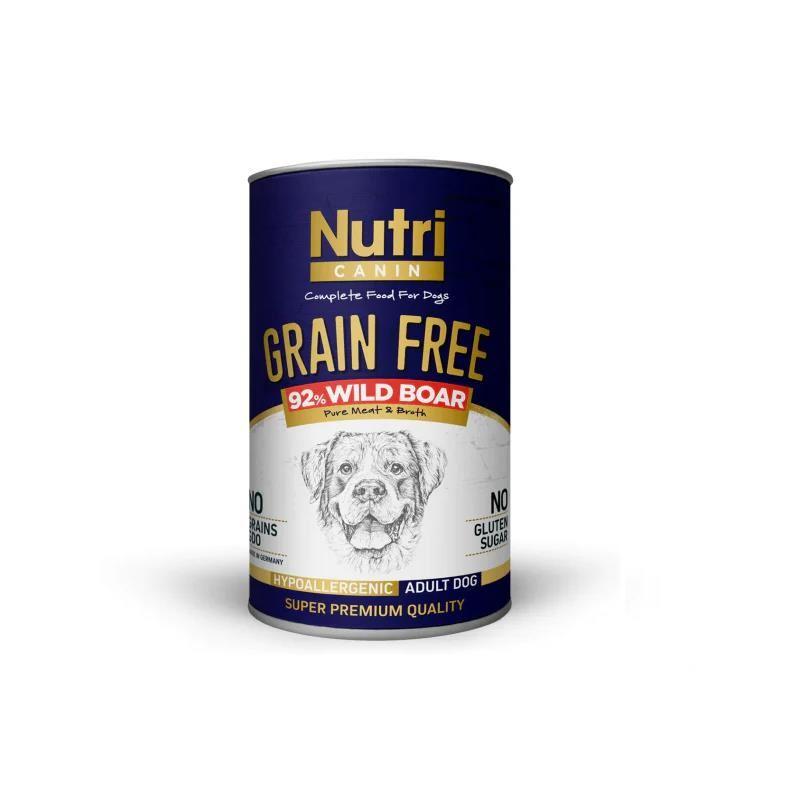 Nutri Canine Yaban Domuzlu Tahılsız Köpek Konservesi 400 Gr