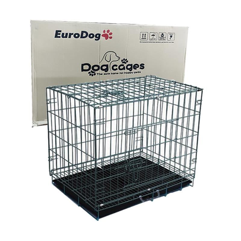 EuroDog Köpek Kafesi Siyah Dövme 121x74x81 Cm