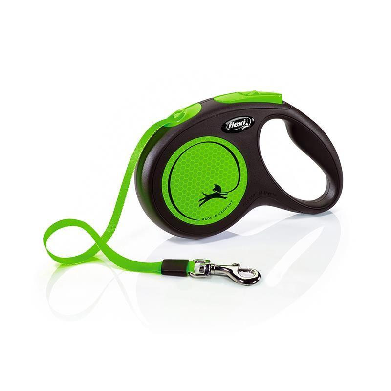 Flexi New Neon Medium 5 Mt Şerit Yeşil